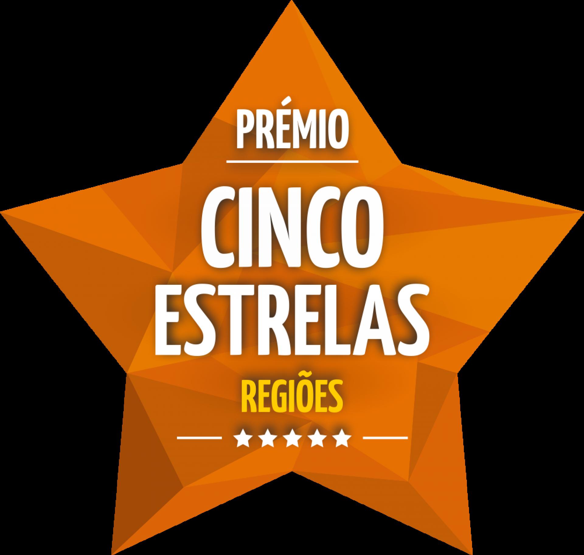 2019 - Prémio Cinco Estrelas Regiões
